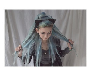 blue hair, hair, and hipster image
