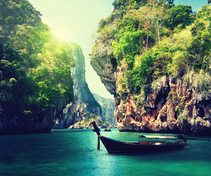 beautiful, boat, and water image