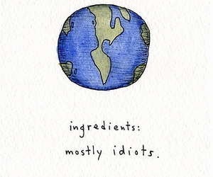 idiot, world, and drawing image