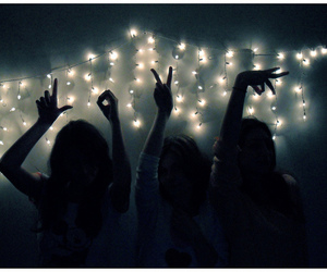 dark, hands, and lights image