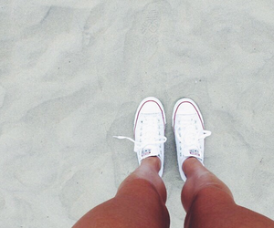 beach, converse, and legs image