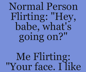 funny and flirting image