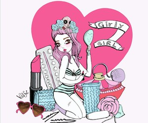 pink, valfre, and art image