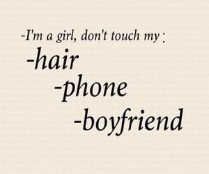 hair, girl, and phone image