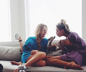 best friends, coffee, and dog image