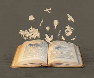 book, imagination, and love image