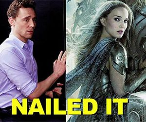 natalie portman, tom hiddleston, and thor image