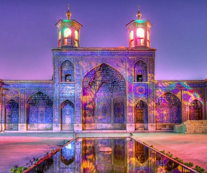 mosque, beautiful, and colorful image
