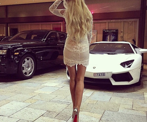 style, blonde, and car image