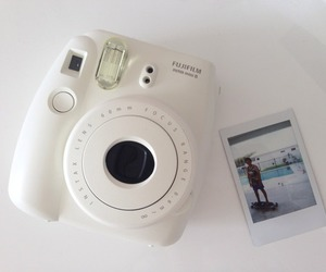 white, polaroid, and camera image