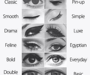 eyeliner, makeup, and tactic image