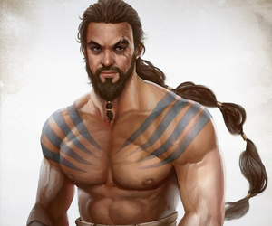 got, drogo, and jason momoa image