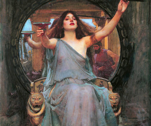 painting, circe, and art image