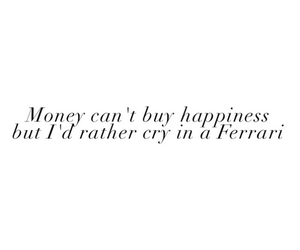 quote, ferrari, and happiness image