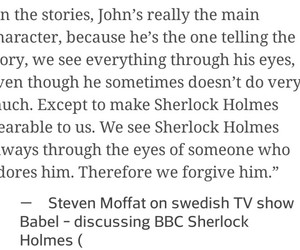 interview, quote, and sherlock image