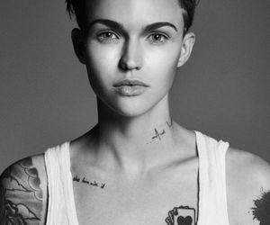 beautiful, woman, and rubyrose image