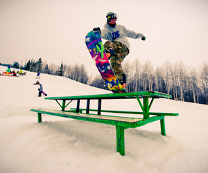 snowboard and snowboarding image