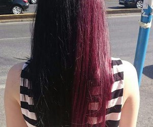 alternative, dyed hair, and long hair image