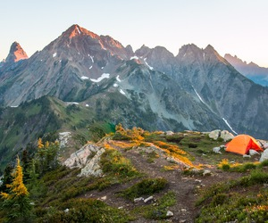 camping, landscape, and mountains image