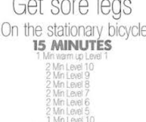 bicycle, workout, and stationary bike image