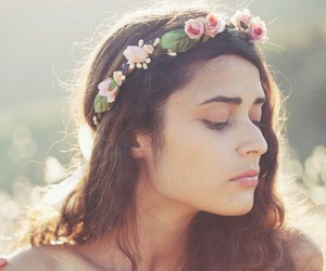 flower crown and flowers image