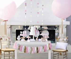 balloons, cake, and decor image