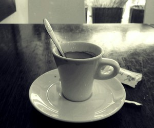 black and white, coffe, and ligh image