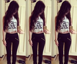 outfit, black, and tumblr image