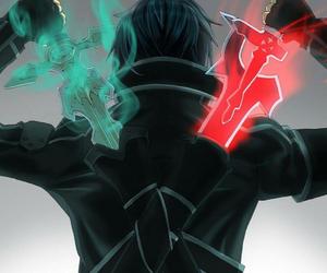kirito, sword art online, and sao image