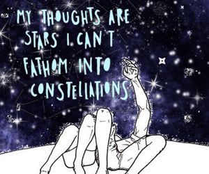 book, constellations, and stars image