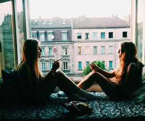 girl, friends, and indie image
