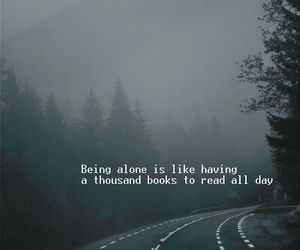 alone, books, and Darkness image