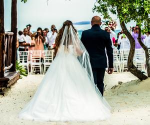 beach, beachwedding, and love image