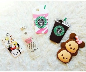 iphone, starbucks, and cases image