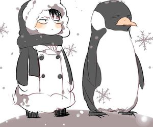 penguin, levi, and attack on titan image