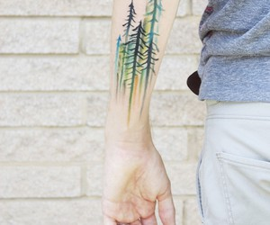 tattoo, trees, and collin dupree image