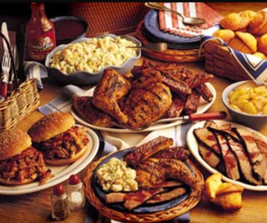 bbq, biscuits, and food image