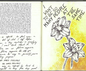 book, handwriting, and journal image