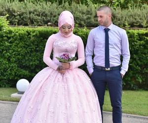 bride, muslim, and love image