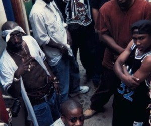 2pac, old school, and ghetto image