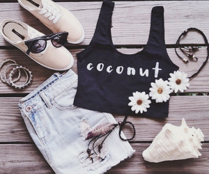 coconut, fashion, and flowers image