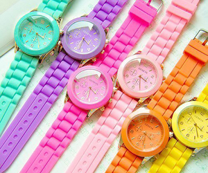 watch, colorful, and colors image