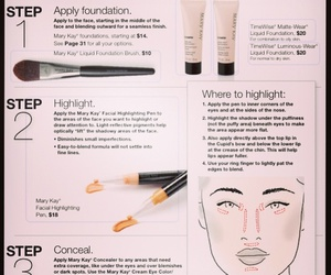 Foundation, highlight, and make up image