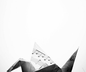 music and origami image