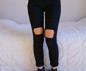 black, grunge, and jeans image