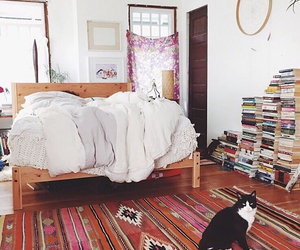 books, vintage, and cat image