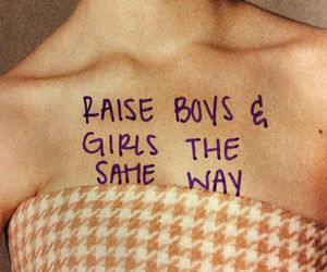 girl, boy, and equality image