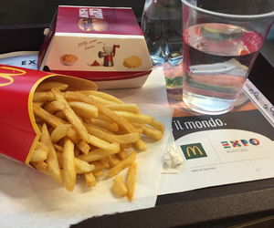 fries, mc donalds, and foodporn image