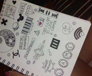 doodles, drawing, and paramore image