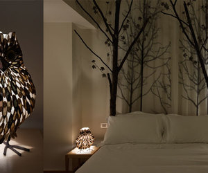bedroom, owl, and decor image